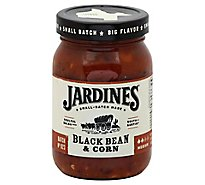 Jardines Salsa Black Bean & Corn Medium Jar - 16 Oz