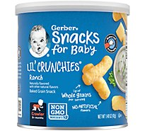 Gerber Graduates Lil Crunchies Corn Snack Baked Whole Grain Ranch - 1.48 Oz