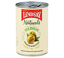 Lindsay Naturals Olives Green Pitted California Ripe Medium - 6 Oz