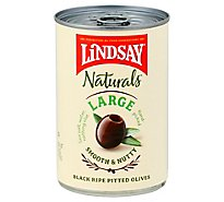 Lindsay Naturals Olives Black Pitted California Ripe Large - 6 Oz