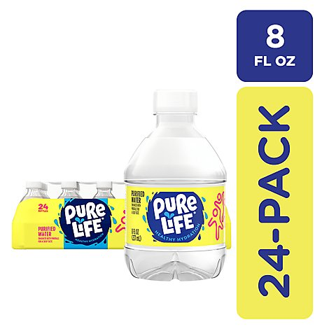 Nestle Pure Life Purified Water - 24-8 Fl. Oz.