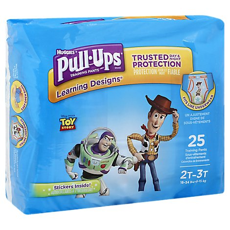 Pull Ups Training Pants Boy 2T-3T Jumbo Pack - 25 Count