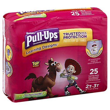 Pull Ups Training Pants Girl 2T-3T Jumbo Pack - 25 Count
