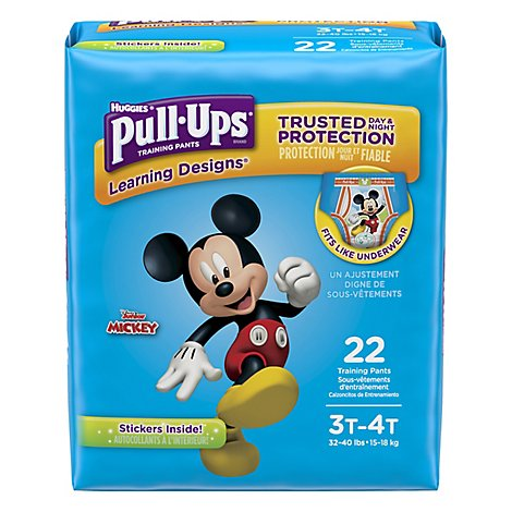 Pull Ups Training Pants Boy 3T-4T Jumbo Pack - 22 Count