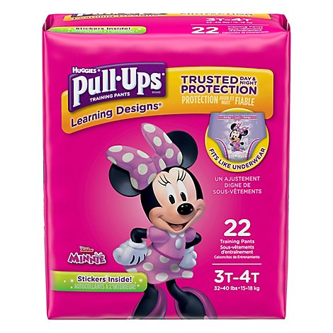 Pull Ups Training Pants Girl 3T-4T Jumbo Pack - 22 Count
