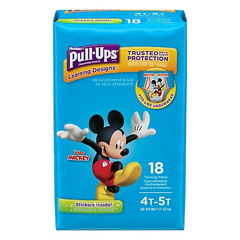 Pull Ups Training Pants Boy 4T-5T Jumbo Pack - 18 Count