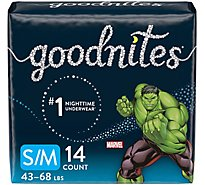 Goodnites Underwear Nighttime For Youth Boy Small/Medium - 14 Count