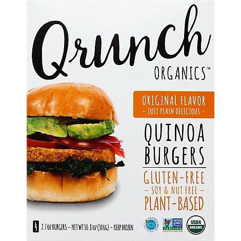 Qrunch Foods Vegi Burger 4pack - 12.8 Oz