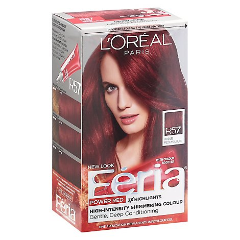 LOreal Feria Power Reds High Intensity Conditioner Hair Colour Gel - Each
