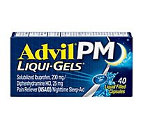 Advil PM Pain Reliever NSAID Nighttime Sleep-Aid Liquid Filled Capsules - 40 each