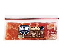 Wright Brand Thick Sliced Hickory Smoked Bacon 1.5 lb.