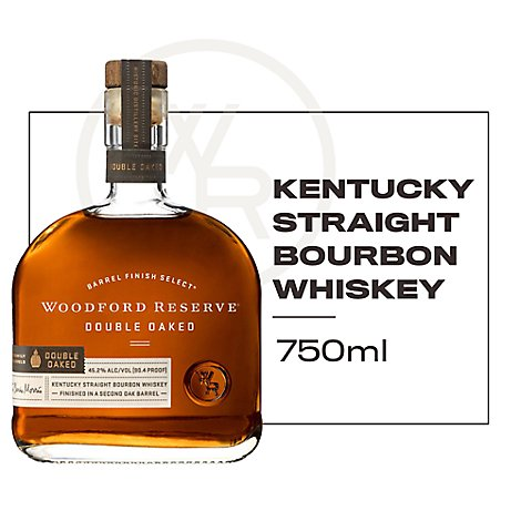 Woodford Reserve Whiskey Kentucky Straight Bourbon Double Oaked 90.4 Proof - 750 Ml