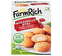 Farm Rich Snacks Mozzarella Bites In A Pizzeria Style Crust - 19.2 Oz