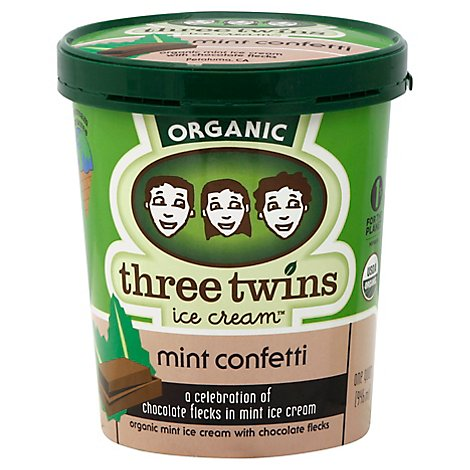 Three Twins Mint Confetti Ice Cream - 32 Fl. Oz.