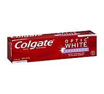 Colgate Optic White Toothpaste Anticavity Fluoride Sparkling Mint - 5 Oz