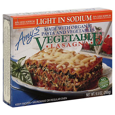 Amys Light Sodium Lasagna Vegetable - 9.5 Oz