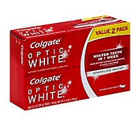 Colgate Optic White Toothpaste Anticavity Fluoride Sparkling White Value Pack - 2-3.5 Oz