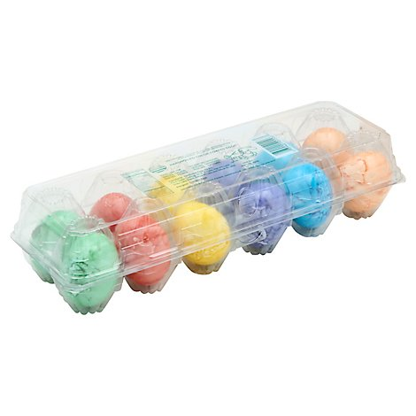 Hard Boiled Colored Eggs - 12 Count