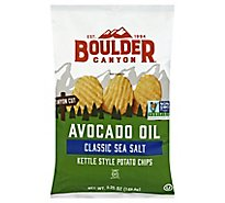 Boulder Canyon Authentic Foods Potato Chips Avocado Oil Canyon Cut Sea Salt - 5.25 Oz