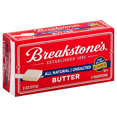 Breakstones Unsalted All Natural Butter - 8 Oz