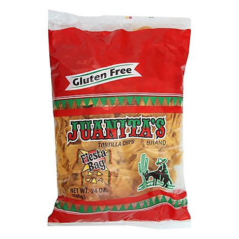 Juanitas Tortilla Chips Fiesta Bag - 24 Oz