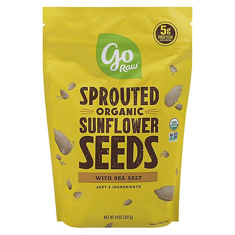 Go Raw Sunflower Seeds Sprouted With Celtic Sea Salt - 16 Oz