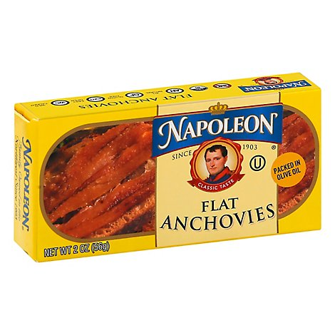 Napoleon Fillets of Anchovies in Olive Oil - 2 Oz