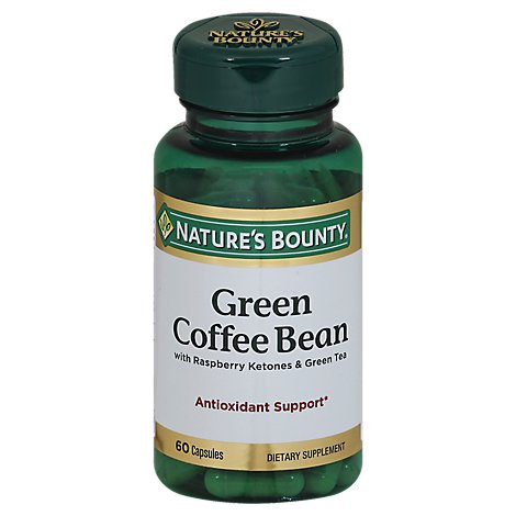 Natures Bounty Green Coffee Bean With Raspberry Ketones & Green Tea Capsules - 60 Count