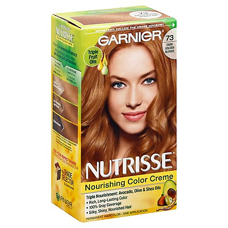 Garnier Nutrisse Dark Golden Blonde 73 Permanent Hair Color - Each