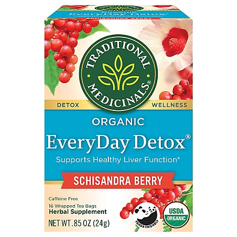 Traditional Medicinals Herbal Tea Organic EveryDay Detox - 16 Count