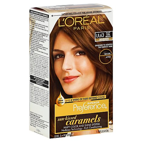 LOreal Preference Sun-Kissed Caramels Hi-Lift Gold Brown Ul63 - Each