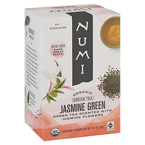 Numi Organic Green Tea Jasmine Green 18 Count - 1.27 Oz