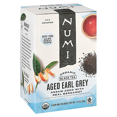 Numi Organic Black Tea Aged Earl Grey 18 Count - 1.27 Oz