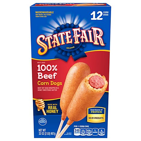 State Fair Corn Dogs 100% Beef - 32 Oz