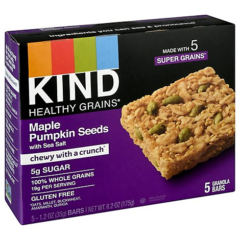 KIND Healthy Grains Granola Bars Maple Pumpkin Seeds with Sea Salt - 5-1.2 Oz