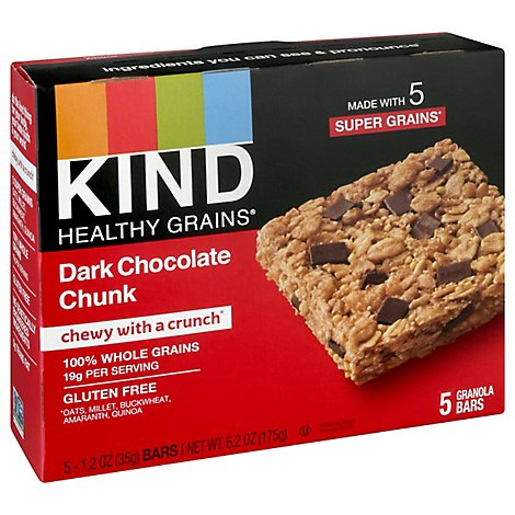 KIND Healthy Grains Granola Bars Dark Chocolate Chunk - 5-1.2 Oz