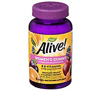 Natures Way Alive! Multi-Vitamin Gummies For Womens 26 Fruits & Vagetables - 60 Count