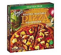 Amys Pizza Rice Crust Roasted Vegetable Single Serve Frozen - 6 Oz
