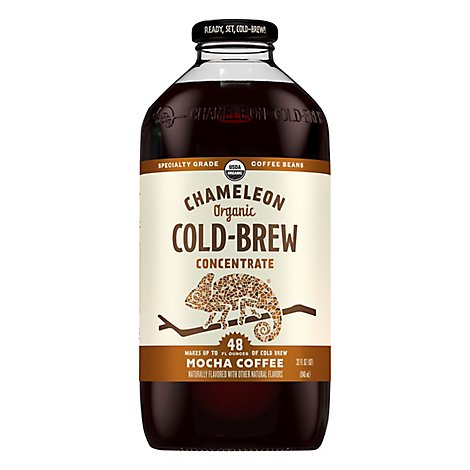 Chameleon Coffee Concentrate Cold-Brew Mocha Coffee - 32 Oz