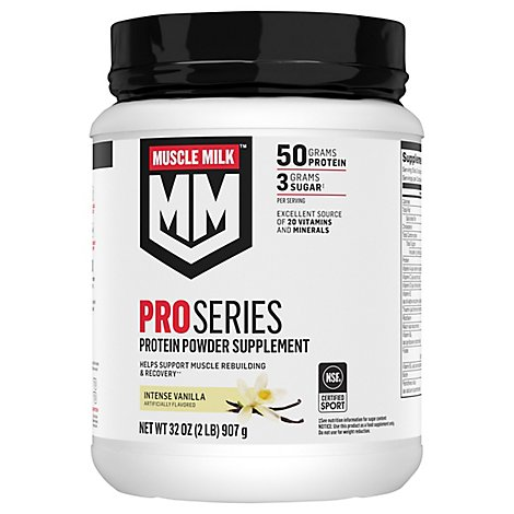 Muscle Milk Pro Series Intense Vanilla - 2 Lb
