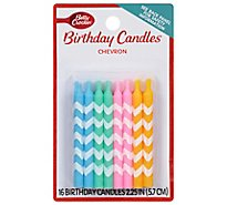 Betty Crocker Candles Chevron - 16 Count