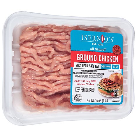 Isernios Chicken Ground Chicken Tray Pack - 16 Oz