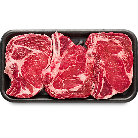 Meat Counter Beef USDA Choice Steak Ribeye Bone In Value Pack - 4.00 LB