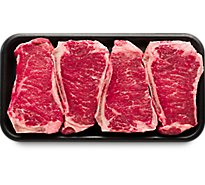 Meat Counter Beef USDA Choice Steak Top Loin New York Strip Bone In Value Pack - 3.50 LB