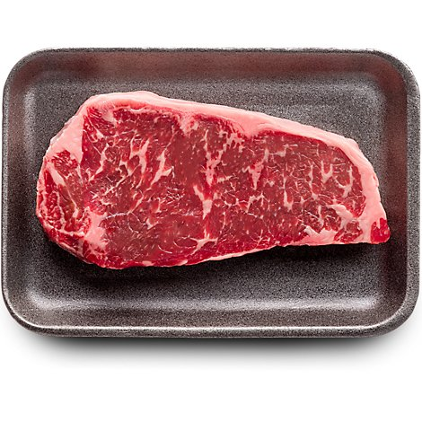USDA Choice Beef Top Loin New York Strip Steak Boneless Prepacked - 2.00 Lb