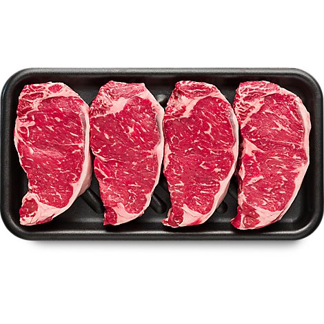 USDA Choice Beef Top Loin New York Strip Steak Boneless Value Pack - 3.50 Lbs.(approx. weight)
