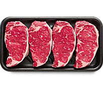 Meat Counter Beef USDA Choice Steak Top Loin New York Strip Boneless Value Pack - 3.50 LB