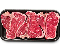 USDA Choice Beef Loin T-Bone Steak Value Pack - 4 Lb
