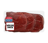 Meat Counter Beef USDA Choice Steak Round Tip Value Pack - 3.00 LB