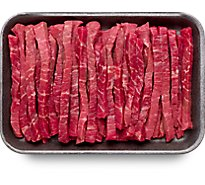 Meat Counter Beef USDA Choice Round Tip Strips For Stir Fry - 1 LB